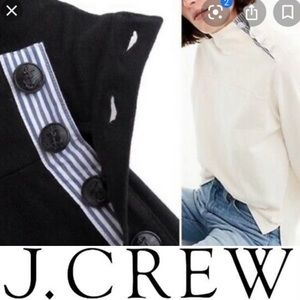NWT J. Crew Black Turtlmeck Side Buttons XS
